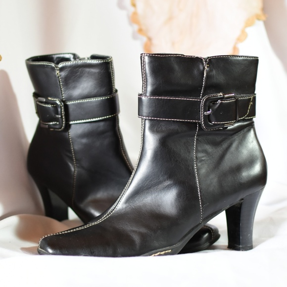 Black Faux Leather Ankle Boots   Poshmark